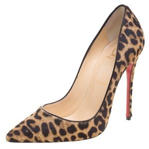 Christian Louboutin Leopard Print PonyHair So Kate